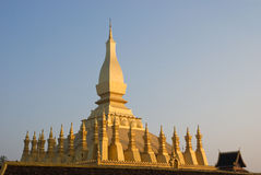 The That Luang Stupa in Vientiane, Laos Royalty Free Stock Photo