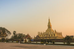 That Luang, Vientiane. Temple in Vientiane (Pha That Luang) is the landmark of Vientiane Stock Images