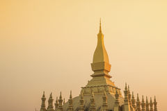 That Luang, Vientiane. Temple in Vientiane (Pha That Luang) is the landmark of Vientiane Royalty Free Stock Photography