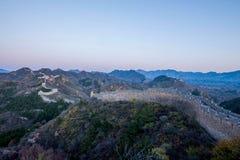 Luanping-Grafschaft, Chinesische Mauer Hebeis Jinshanling Stockfoto