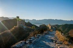 Luanping okręgu administracyjnego, Hebei Jinshanling wielki mur Obraz Royalty Free