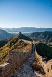 Luanping okręgu administracyjnego, Hebei Jinshanling wielki mur Obraz Stock