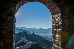Luanping okręgu administracyjnego, Hebei Jinshanling wielki mur Obrazy Stock