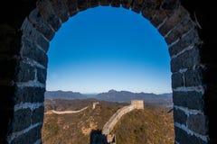 Luanping okręgu administracyjnego, Hebei Jinshanling wielki mur Zdjęcia Royalty Free