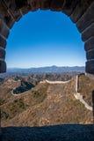 Luanping okręgu administracyjnego, Hebei Jinshanling wielki mur Zdjęcia Stock