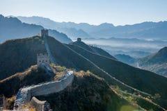 Luanping okręgu administracyjnego, Hebei Jinshanling wielki mur fotografia royalty free