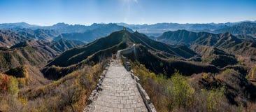 Luanping okręgu administracyjnego, Hebei Jinshanling wielki mur obrazy royalty free