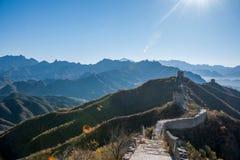 Luanping okręgu administracyjnego, Hebei Jinshanling wielki mur zdjęcie stock