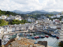 Luarca. Overview of the fishing village of luarca, province of asturias, Spain Stock Images