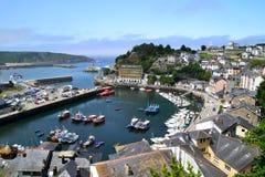 Luarca, Asturias - Spain. View of seaport of Luarca in Asturias, Spain Stock Photo