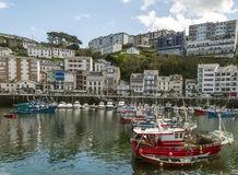 Luarca with boats Royalty Free Stock Photos