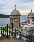 Luarca Cemetery by the sea, in Asturias, Spain. Royalty Free Stock Photography