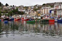 Luarca fiskehamn, Asturias, Spanien Arkivbild