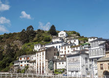 Luarca village Stock Image