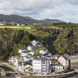 Luarca village Stock Images