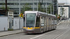 Free Luas Light Passenger Rail Train In Dublin, Ireland Royalty Free Stock Images - 122666739