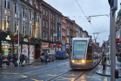 Luas tram early evening Royalty Free Stock Photography