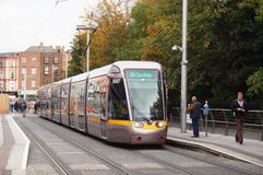 A LUAS tramway in Dublin, Ireland Stock Photo