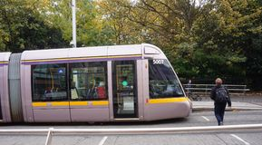 A LUAS tramway in Dublin, Ireland Stock Image