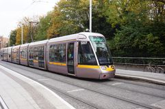 A LUAS tramway in Dublin, Ireland Stock Photography