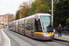A LUAS tramway in Dublin, Ireland Royalty Free Stock Photo