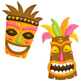 Luau Mask. A vector of traditional hawaii mask Stock Photos