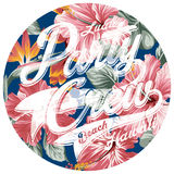 Luau party crew hawaii. Vector artwork for woman t shirt Stock Photography