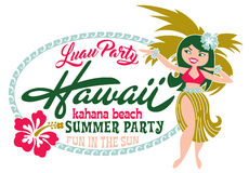 Luau party summer beach Stock Images