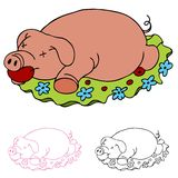 Luau Roasted Pig. An image of a luau rosted pig Royalty Free Stock Photography