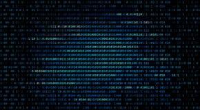 01 lub binarnego kodu liczba na komputerze w cyfrowych dane technol ilustracja wektor