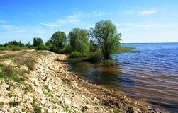 Lubanasmeer in Letland Stock Foto
