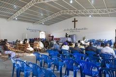 LUBANGO/ANGOLA - 2016年7月13日-非洲教会在安哥拉,有n的 库存图片