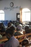LUBANGO/ANGOLA - 2016年7月13日-非洲教会在安哥拉,有n的 库存照片