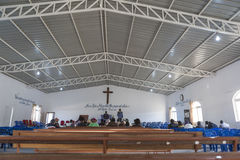 LUBANGO/ANGOLA - 2016年7月13日-非洲教会在安哥拉 图库摄影