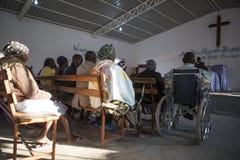 LUBANGO/ANGOLA - 2016年7月13日-非洲教会在安哥拉 免版税库存图片