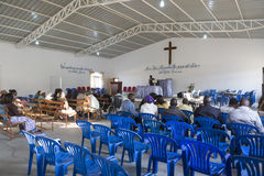 LUBANGO/ANGOLA - 13 JULY 2016 - African church in Angola, with n Stock Image
