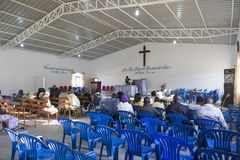 LUBANGO/ANGOLA - 13 JULY 2016 - African church in Angola, with n Royalty Free Stock Image
