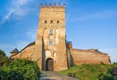 Lubart的城堡, 14世纪,乌克兰 库存照片