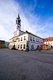 Lubawka, Poland, town main square Royalty Free Stock Images