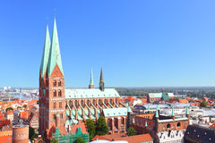 Lubeck. Church of St. Mary in Lubeck, Germany Royalty Free Stock Photo