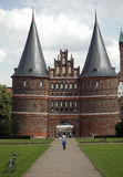 Lubeck. Holsten gate in the beatiful city of Lubeck Stock Image