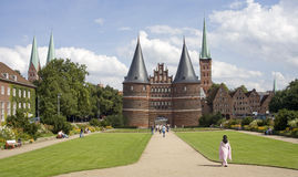 Lubeck. Holsten gate in the beatiful city of Lubeck Stock Photography