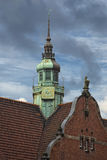 Lubeck church copper roof Stock Image