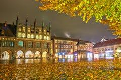 Lubeck, Germania - 12 novembre 2016: Municipio Fotografia Stock Libera da Diritti