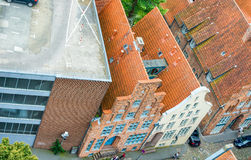 Lubeck, Germany. Ancient medieval buildings Stock Photos