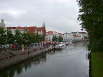 Historic city of Luebeck with famous Trave river Schleswig-Holstein