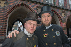 LUBECK - GERMANY - December 30, 2014 - Chimney sweepers parade for Christmas Stock Photos