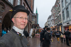 LUBECK - GERMANY - December 30, 2014 - Chimney sweepers parade for Christmas Stock Image
