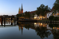 Lubeck old town at dusk Stock Image