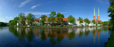 Lubeck Painters Point. A view of the ancient town of Lubeck Stock Images